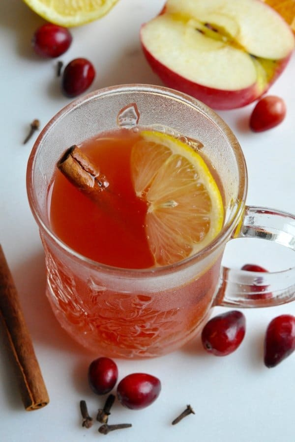 Healthy Cranberry Wassail Recipe {the perfect holiday spiced drink}