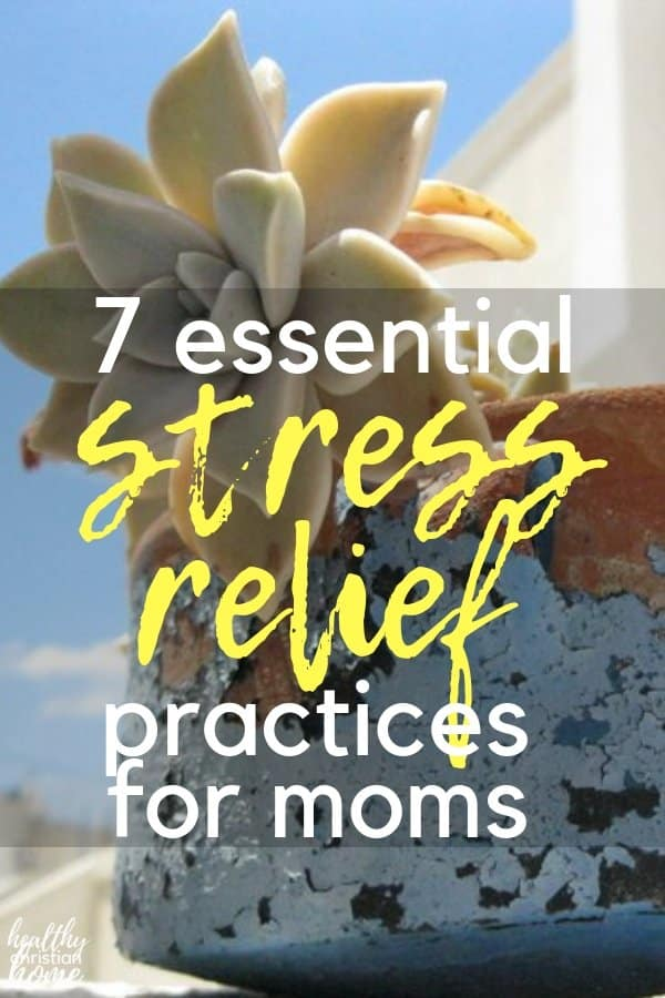 If you classify yourself as a stressed mom, you're in the right place! Let's look at why many moms are chronically stressed, plus 7 simple stress relief solutions! (plus the best bible verse for stress, too!) #stressmanagement #stressrelief #stressedmom