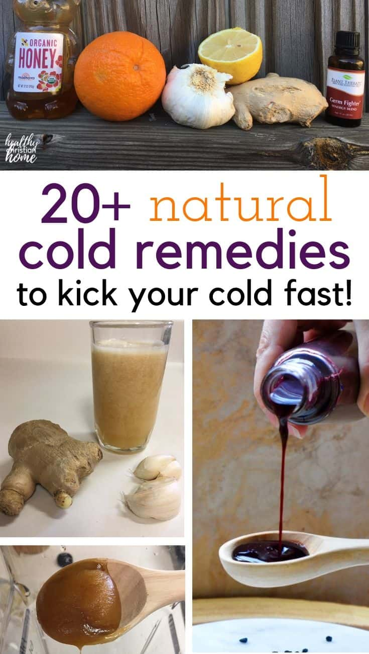 Discover over 20 of the best natural cold remedies for cold and flu season to help you stay healthy through the colder months.#coldremedies #coldremedy #naturalremedies #coldandflu