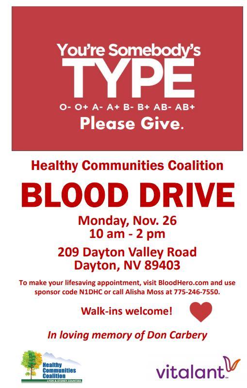 blood drive cortneys flyer