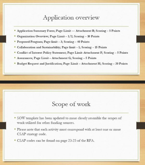 rfa app and scope
