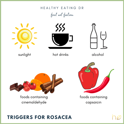 food triggers rosacea