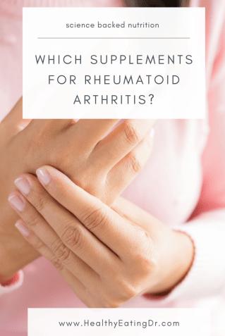 which supplements for rheumatoid arthritis