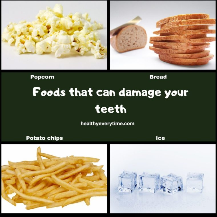 Good and Bad foods for your teeth (Foods that can damage your teeth)