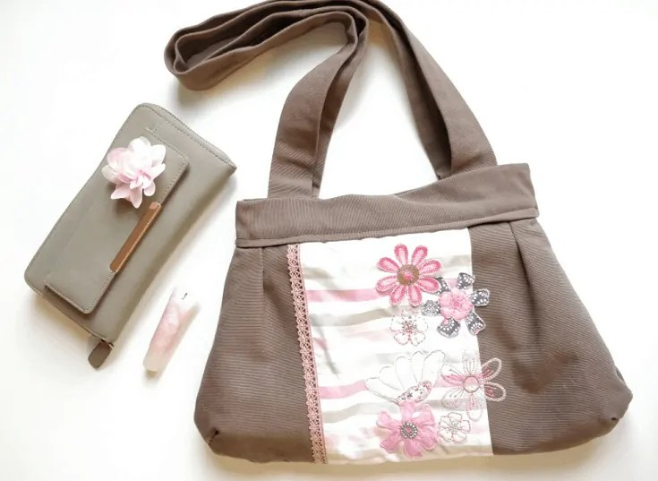 Handbag sew and embroider