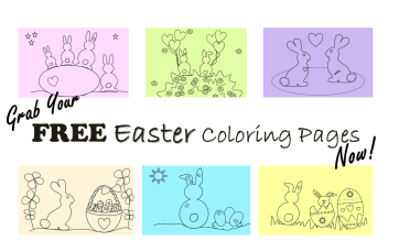 Free Easter bunny pages to color in