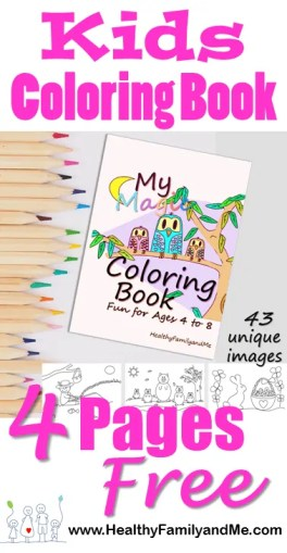Coloring Book For Kids For Brain Booster Magic Healthy Family And Me