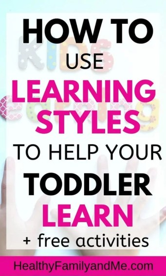 Learning Styles, unique to every child. Learn how to use learning styles to help your toddler learn. Understand the types of learning styles and use educational technology to raise smart kids. Child development and learning is important for teaching toddlers. Use study techniques as homeschooling ideas for toddlers. #homeschool #kidslearning #smartkids #teachtoddlers #parentingtips