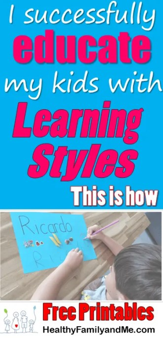 Do you want to successfully education your child every day. Then read this post now to discover and build the top learning styles your child uses. Grab your free resources and printabes now. #learningstyles #kidslearning #childeducation #learning #educatekids #childreneducation
