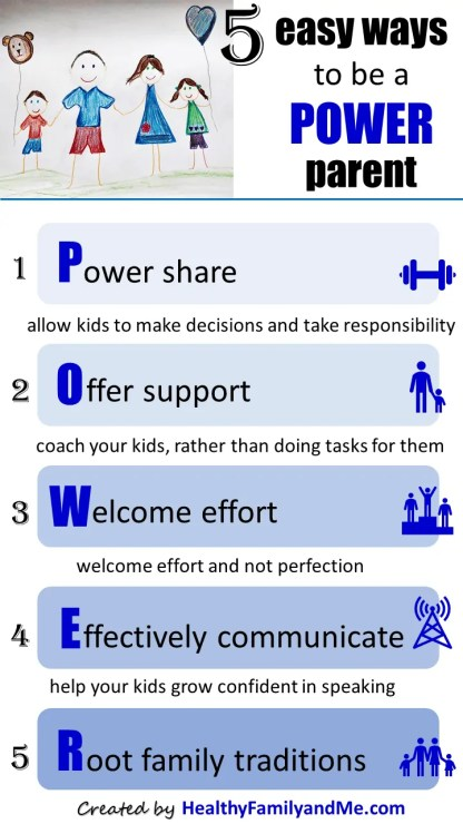 Try this 5 easy steps to be a power parent. Best parenting tips and advice #parenting #parentingtips #parentingadvice