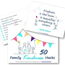 50 family kindness hacks. Grab you copy now. #smartkids #brilliantchild #parenting #bestparentingtips