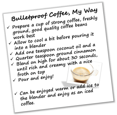 bulltetproof cofee as part of a healthy lifestyle #healthylifestyle #bulletproofcoffee #metabolismboost