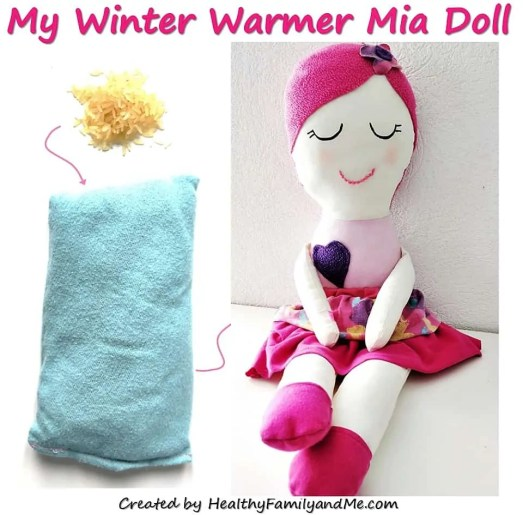 Handmade dolls, make your own Winter Warmer Mia doll with the easy step by step tutorial, photos and pattern #ragdol #handmandedolls #dollsDIY #dollcraft #makeyourowndoll #homemadecrafts #toddlerdoll