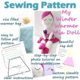 Pattern for Handmade dolls, make your own Winter Warmer Mia doll with the easy step by step tutorial, photos and pattern #ragdol #handmandedolls #dollsDIY #dollcraft #makeyourowndoll #homemadecrafts #toddlerdoll