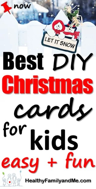 Christmas card for kids, DIY, handmade cards, Easy to make Christmas cards the kids will love to make. #christmascards #christmascraft #handmadecards #christmasdiy