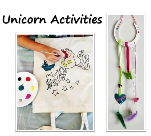 Unicorn activities for Birthday Party with unicorn costume, birthday invitation, treats, unicorn cake, birthday games and birthday favors. #unicornparty #birthdayparty #birthdayfavors #unicorncake #pinata