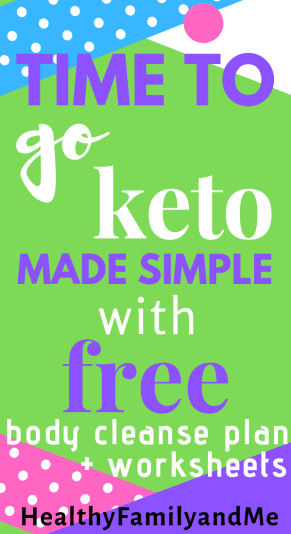 This is an awesome resource with a keto diet and body cleanse plan to help you make healthy living changes easily! Grab your free printables now! #bodycleanse #keto #detox #freeprintables #healthyliving