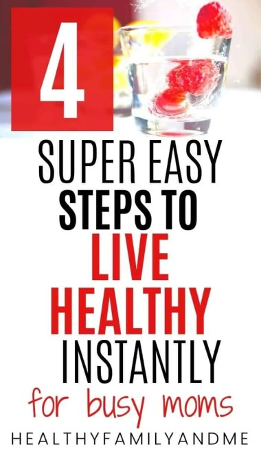 healthy fruit water and how live healthy steps text