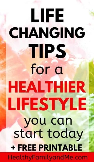 How to live healthy with easier healthier lifestyle tips. Raise kids in a healthy family with healthy habits. How to be happy and healthy with parenting tips. #healthyliving #healthyfamily #kidshealth #healthylifestyle #momlife #motherhood
