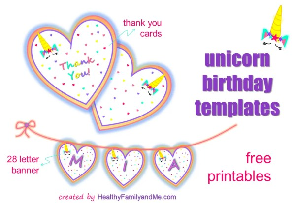 unicorn templates, unicorn birthday printable for the best unicorn party. unicorn birthday ideas and free unicorn templates #unicorn #birthdayprintables #unicornprintables