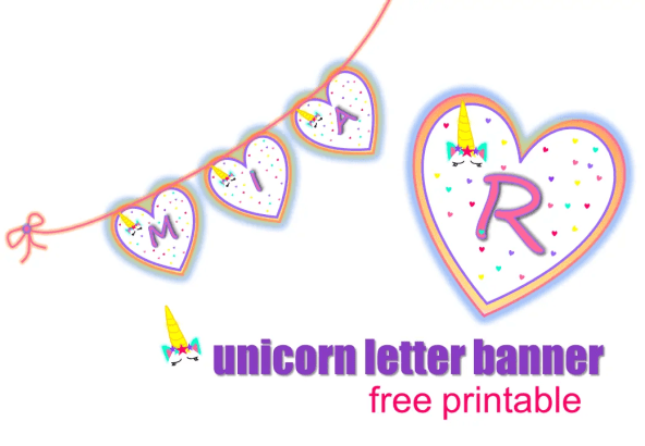 unicorn name printable templates for the best unicorn party. unicorn birthday ideas and free unicorn templates #unicorn #birthdayprintables #unicornprintables