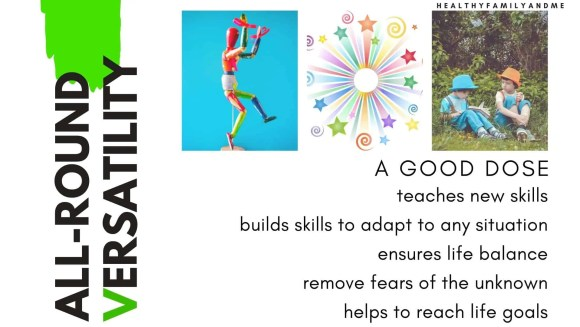 versatility, building blocks of a healthy family lifestyle. #healthyfamilytips
