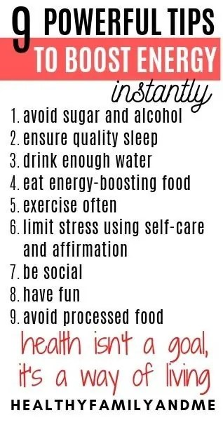 9 tips to boost your energy levels. Discover the best foods to fight fatigue and depression. Making mom life easier. #eneryfoods #boostenergy #highenergysnacks