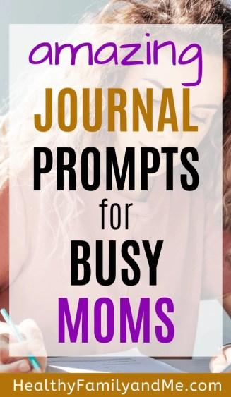 journal writing mom