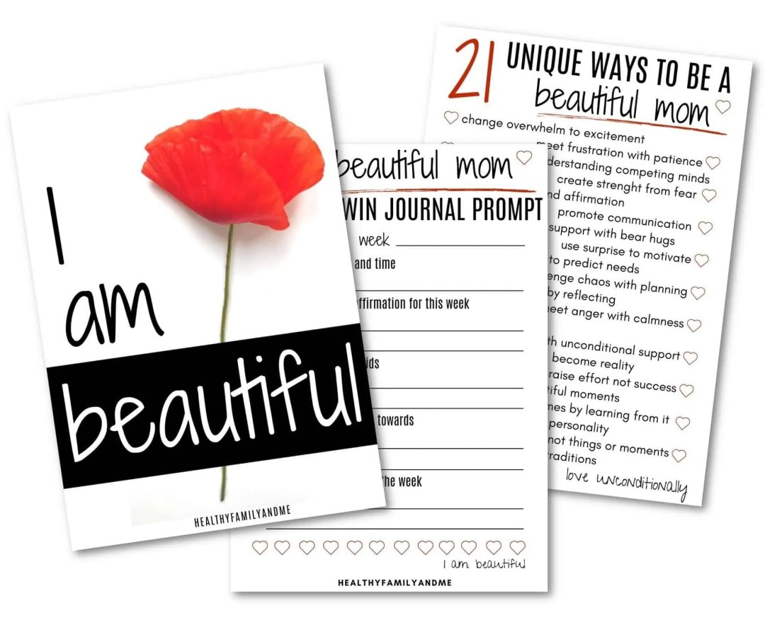 mom printables how to be a beautiful mom