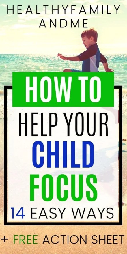 Kids education activities to help kids focus. Is your child easily distracted? Help them focus and concentrate with 14 simple parenting tips. Homeschooling made easy with free education printables. #freeprintables #kidslearning #educatekids #kids&parenting #focus #distractedchild