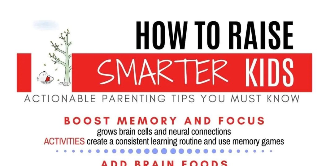 raise smart kids cheatsheet