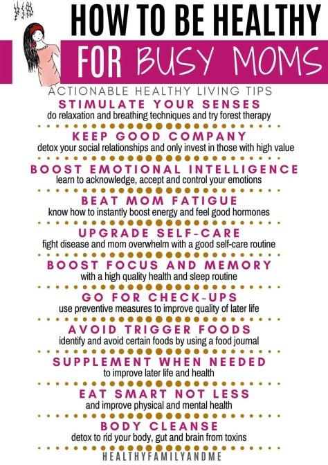 healthy mom tips