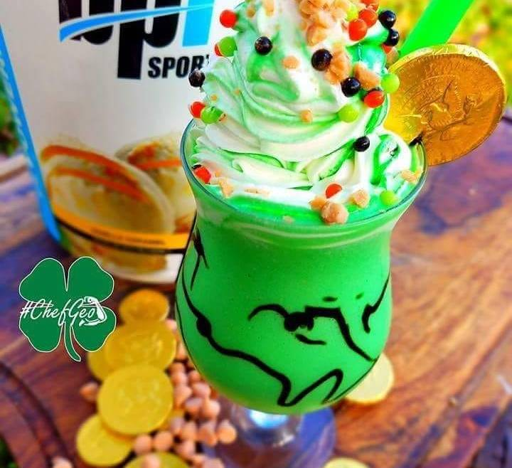 Healthy Saint Patrick's Day Green Protein Shake