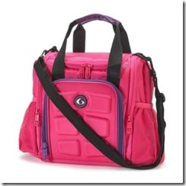 six pack fitness meal bag in pink