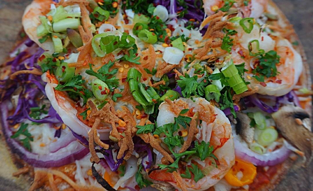 Easy and quick Cauliflower Shrimp Pizza Recipe