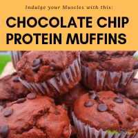 A Delightful Clean Chocolate Chip Protein Muffins