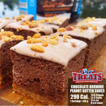 CHOCOLATE BROWNIE PEANUT BUTTER PROTEIN CAKE