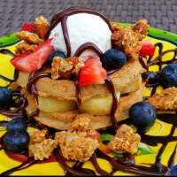 Healthy, Easy to Make Van's Protein Loaded Waffles Recipe
