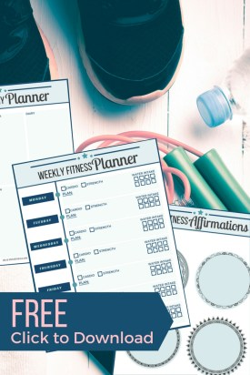 Free Fitness Planner. Print out this Fitness journal to help you stay motivated and lose weight.