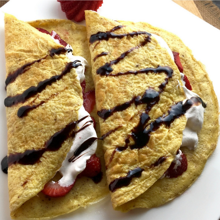 "Easy Healthy Sweet or Savory ""Crepes"""