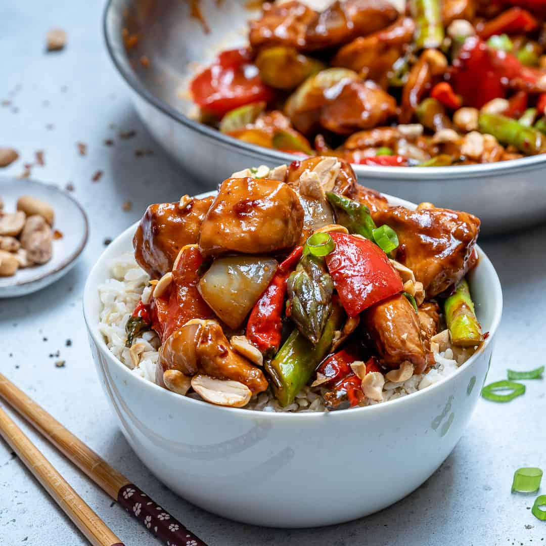Healthy Kung Pao Chicken {sauce recipe included} | Healthy ...