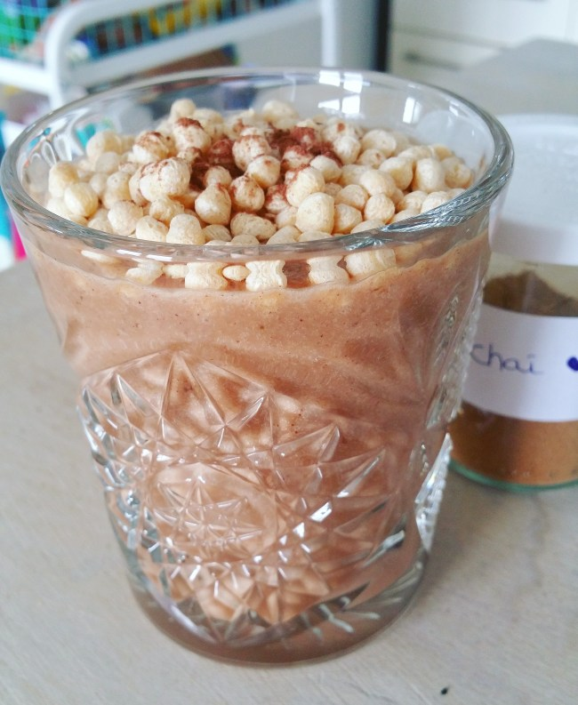 chocobanana chai smoothie 1