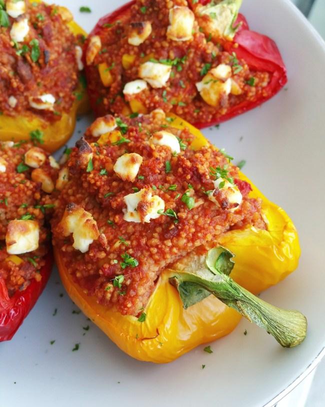 Spicy Mexicaans gevulde paprika's 1