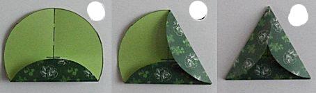 driehoek vouwen wrap