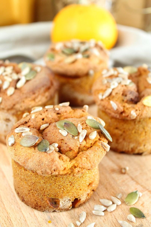 zoete fluffy pompoen muffins 1