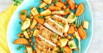 Arabisch gekruide kip met ovengroenten 1
