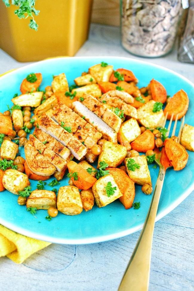 Arabisch gekruide kip met ovengroenten 2