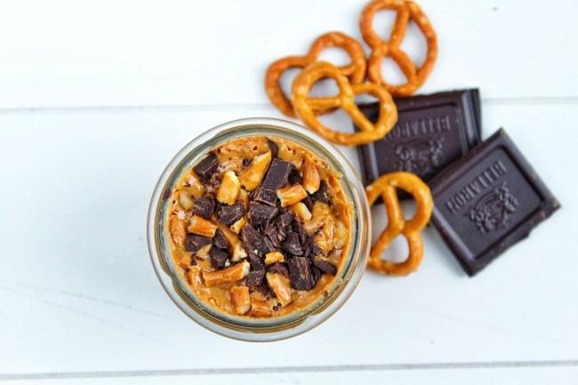 Pindakaas met pure chocolade en zoute pretzels 3