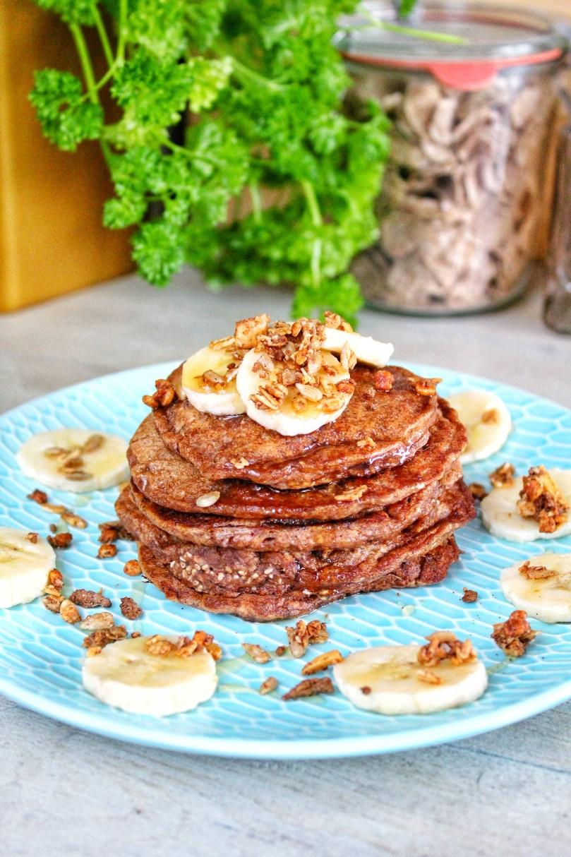 Chia pannenkoekjes met banaan en granola 3