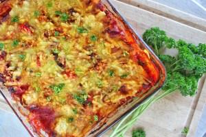 Rijkgevulde glutenvrije lasagne met plantaardige kip 1